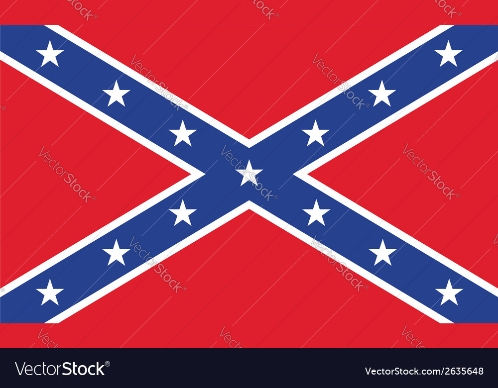 Confederate flag vector