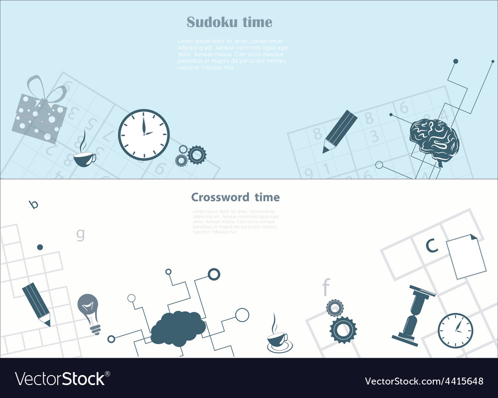 Crossword and sudoku background vector | Price: 1 Credit (USD $1)