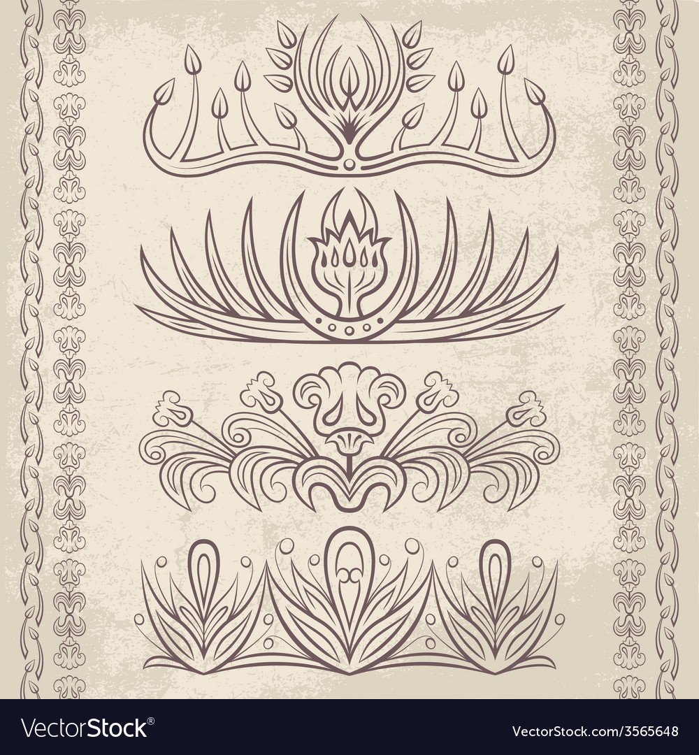 Decor elements6 vector | Price: 1 Credit (USD $1)