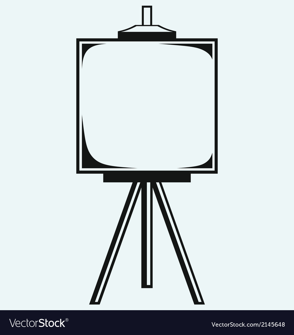 Easel with empty canvas vector