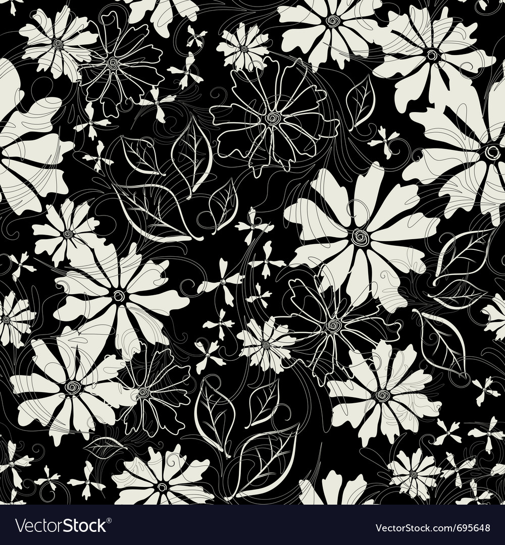 Effortless floral pattern vector | Price: 1 Credit (USD $1)
