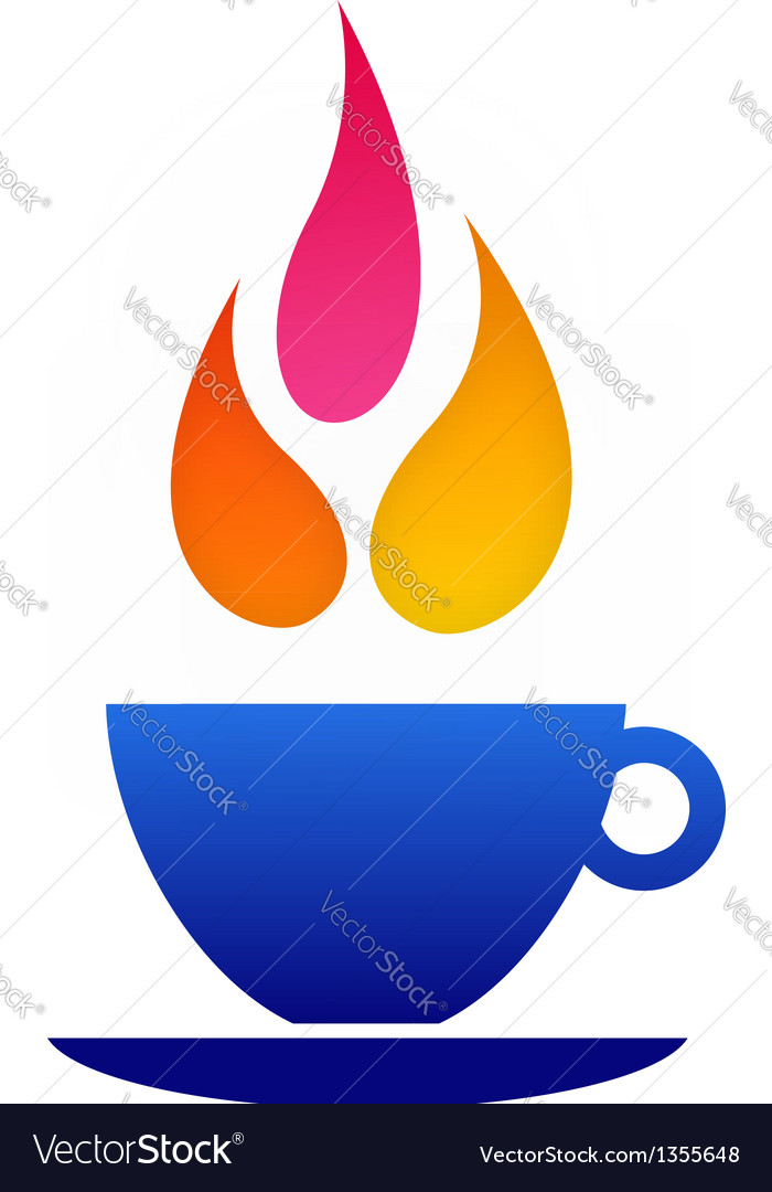 Flame coffee logo vector | Price: 1 Credit (USD $1)