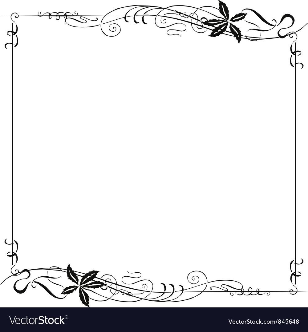 Frame ornate art nouveau vector   Price: 1 Credit (USD $1)