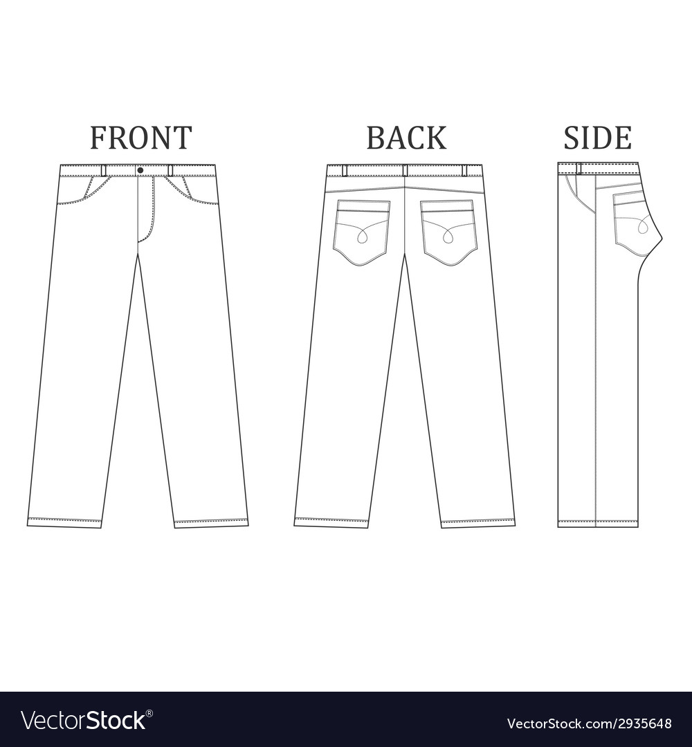 Long pant jeans vector | Price: 1 Credit (USD $1)
