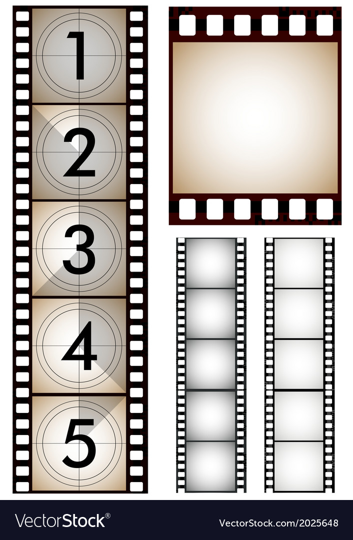 Movie and film design elements vector | Price: 1 Credit (USD $1)