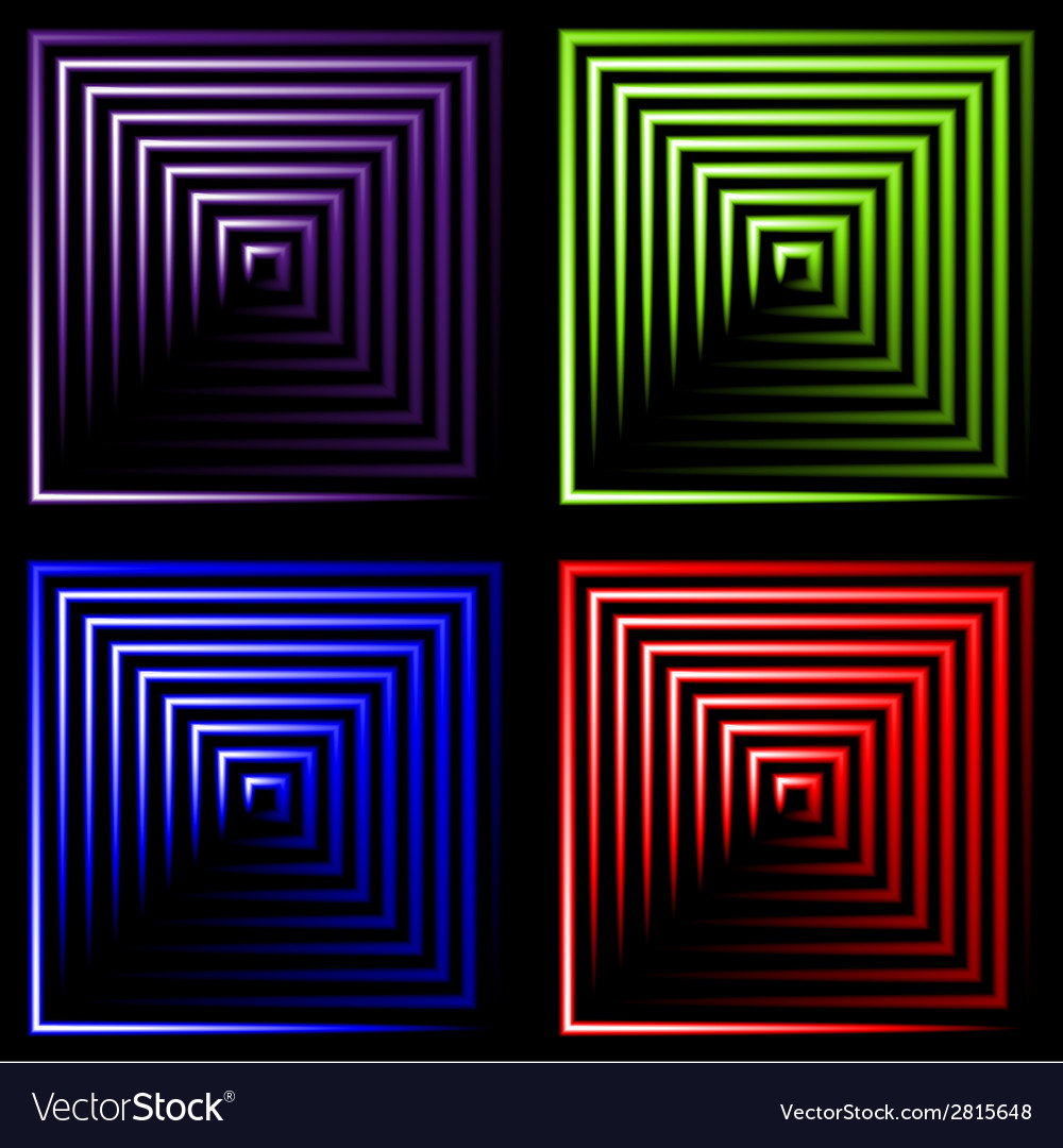 Set of multicolored neon square background with vector   Price: 1 Credit (USD $1)