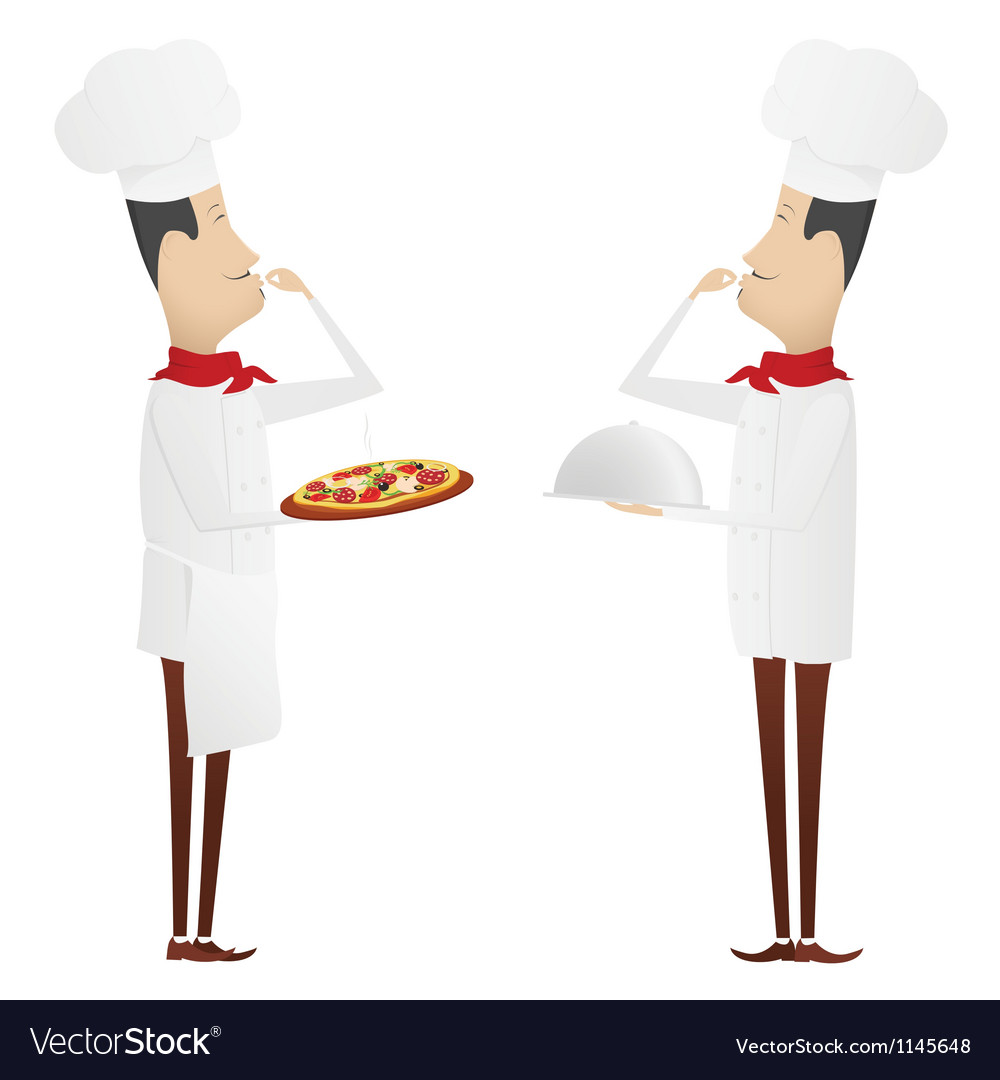 Set of two gourmet chefs vector | Price: 1 Credit (USD $1)