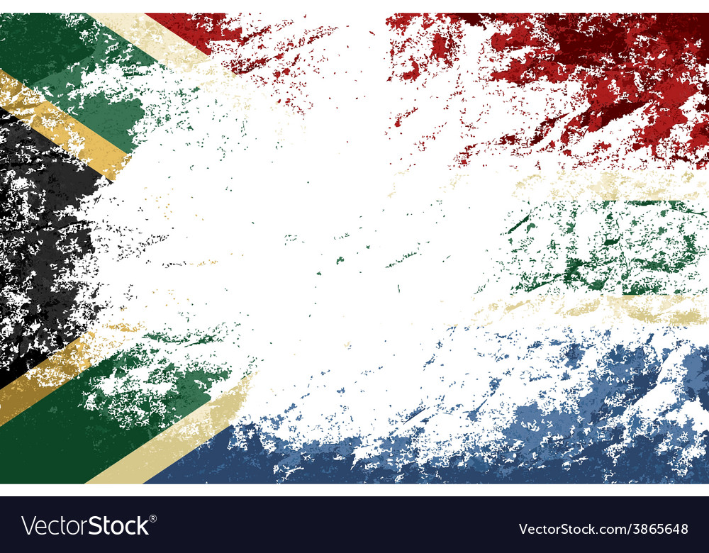 South africa flag grunge background vector | Price: 1 Credit (USD $1)