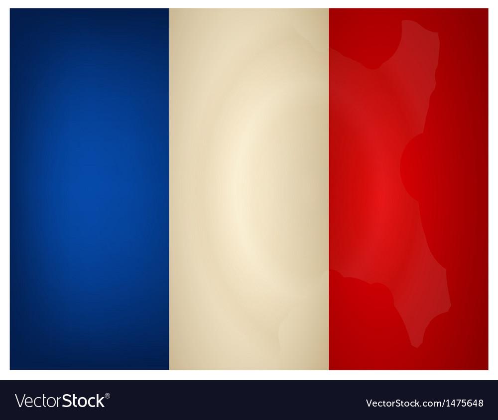 Vintage france flag vector | Price: 1 Credit (USD $1)