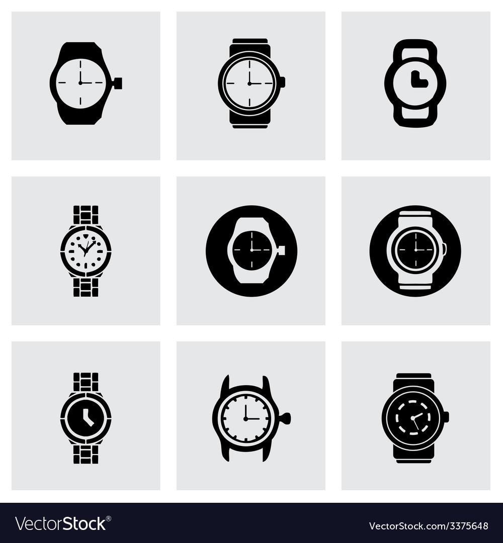 Wristwatch icon set vector | Price: 1 Credit (USD $1)