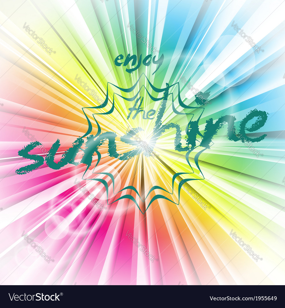 Abstract shiny background with sun flare vector | Price: 1 Credit (USD $1)