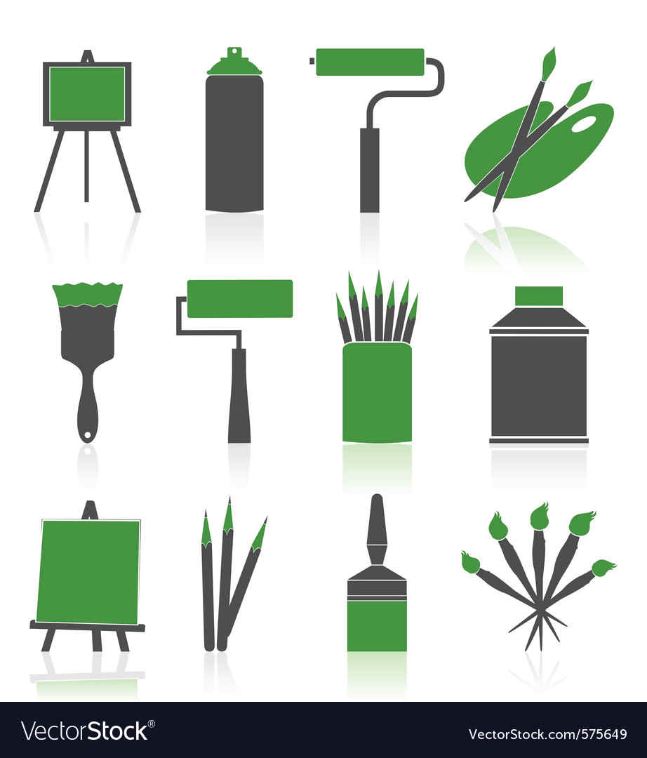 Artist icons set vector | Price: 1 Credit (USD $1)