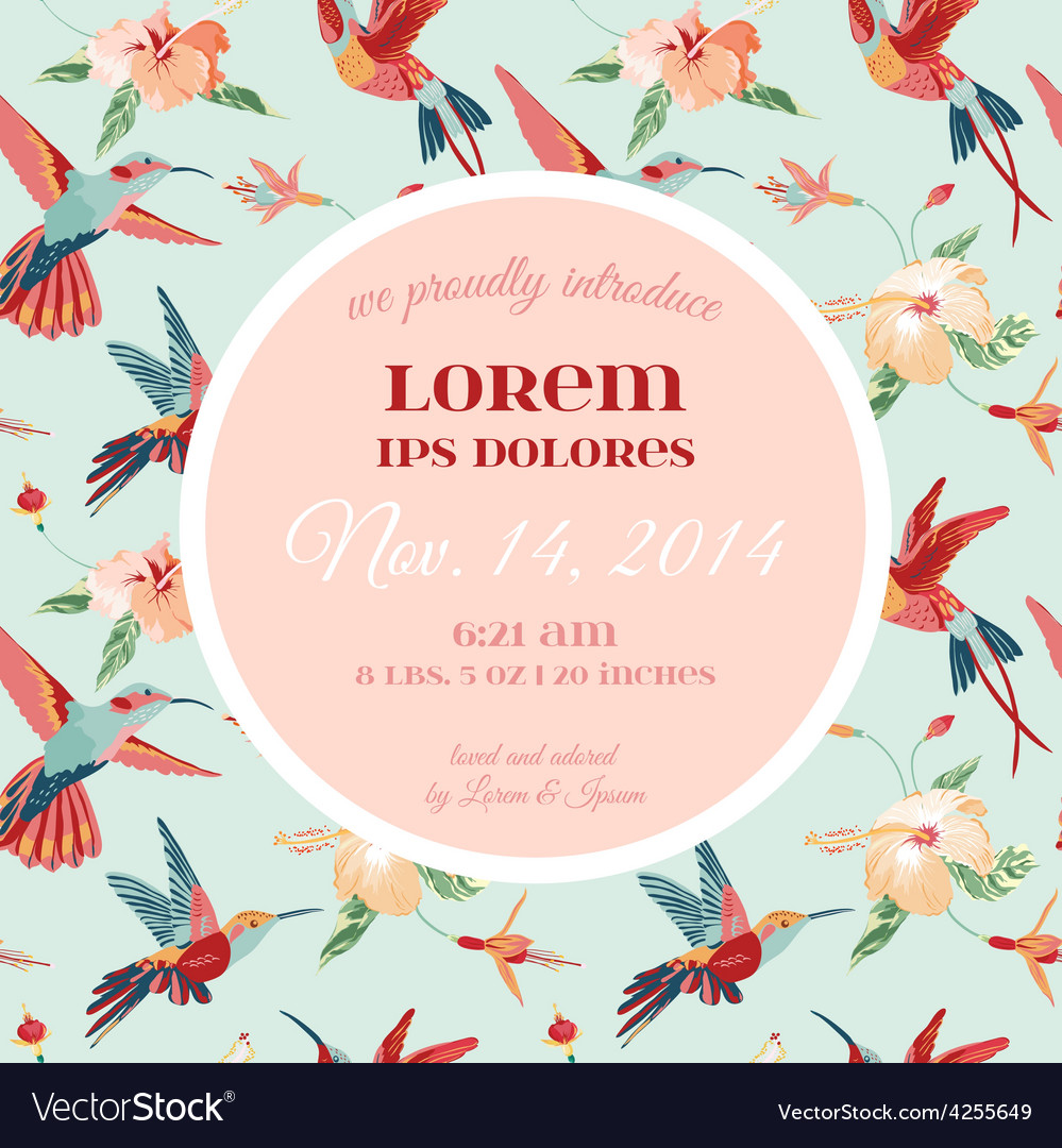Baby arrival or shower card vector | Price: 1 Credit (USD $1)