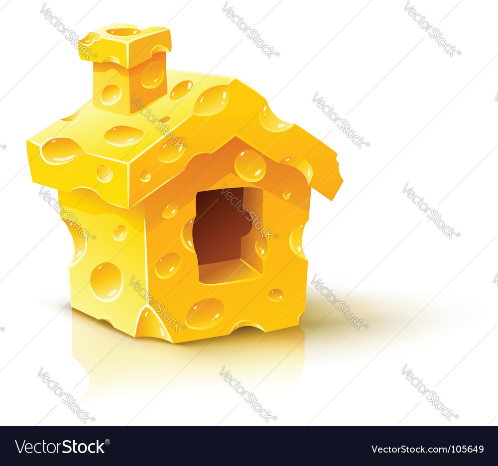 Cheese house vector
