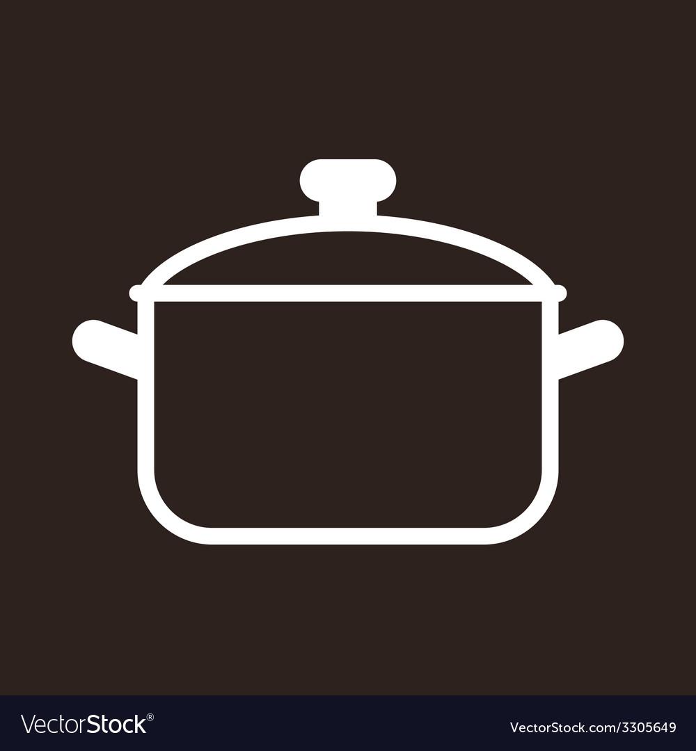 Cooking pot symbol vector   Price: 1 Credit (USD $1)