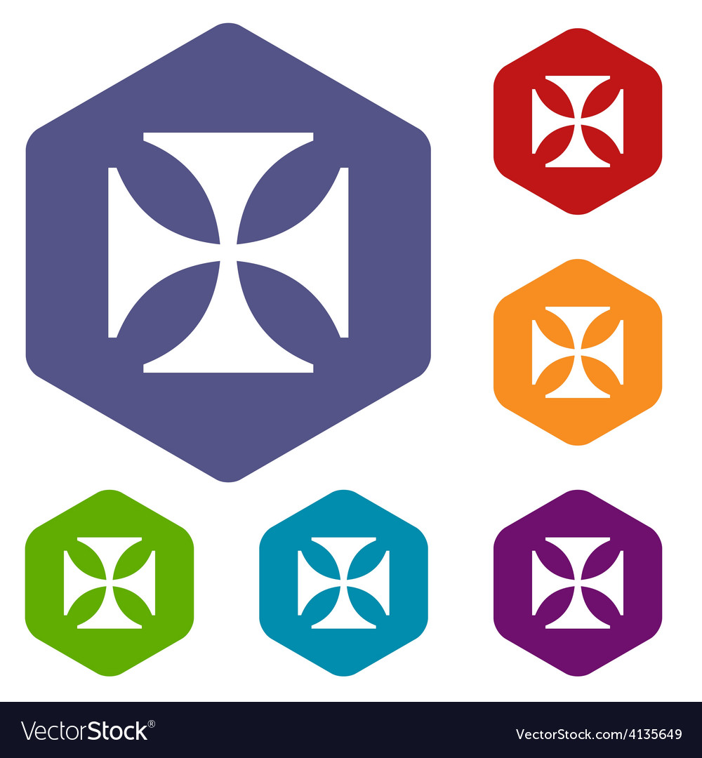 Crusaders rhombus icons vector | Price: 1 Credit (USD $1)