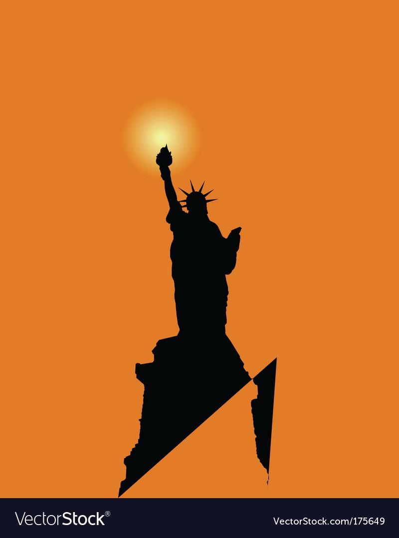 Freedom statue vector | Price: 1 Credit (USD $1)