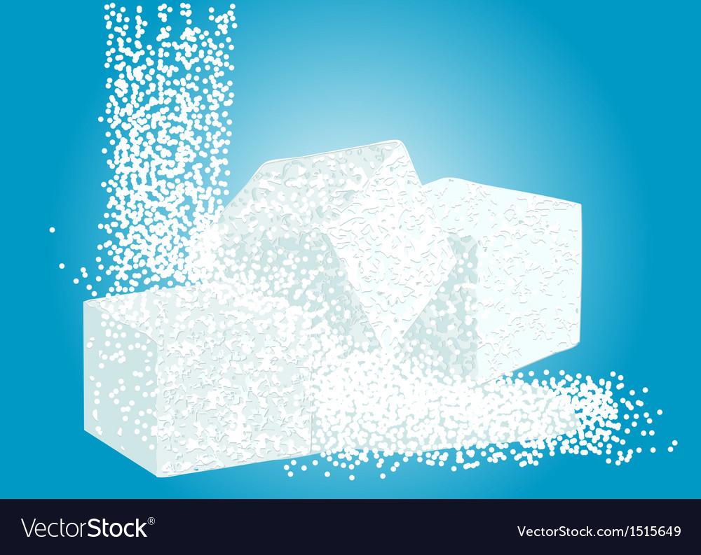 Granulated sugar and lump sugar vector | Price: 1 Credit (USD $1)