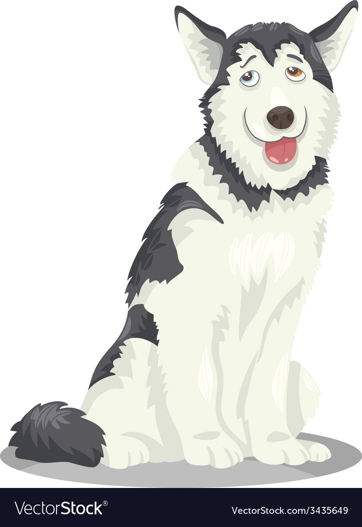 Husky or malamute dog cartoon vector | Price: 1 Credit (USD $1)