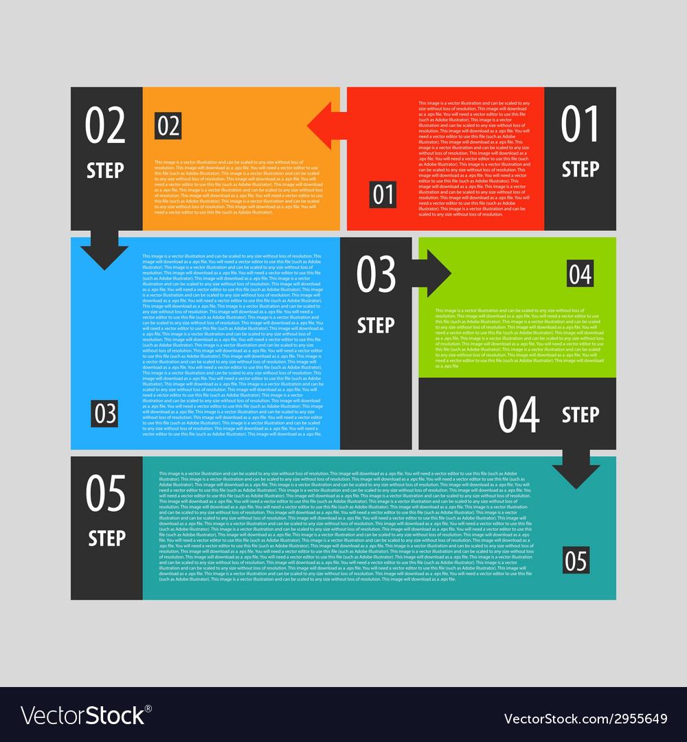 Infographics options banner steps set vector | Price: 1 Credit (USD $1)