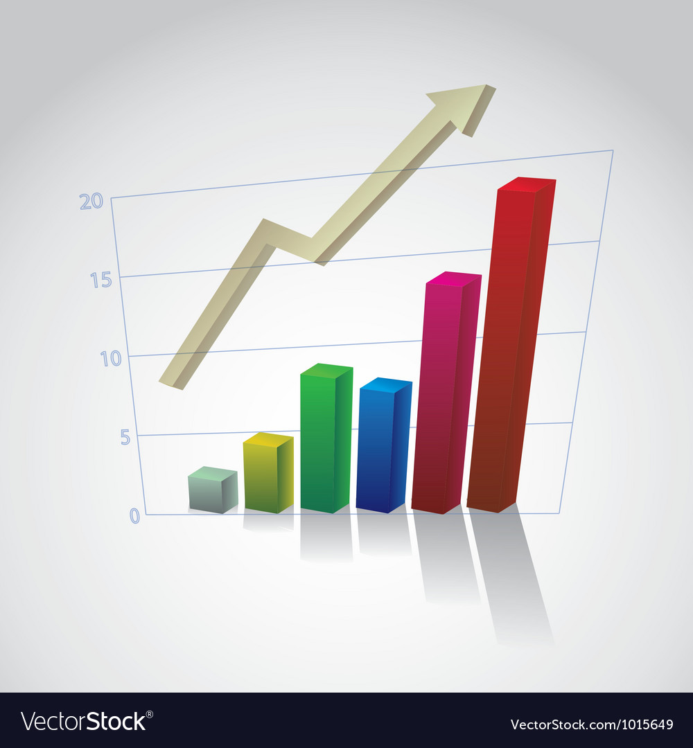 Rising bar graph vector   Price: 1 Credit (USD $1)