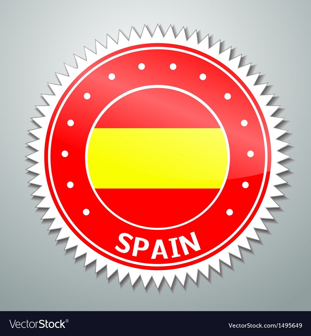 Spanish flag vector | Price: 1 Credit (USD $1)