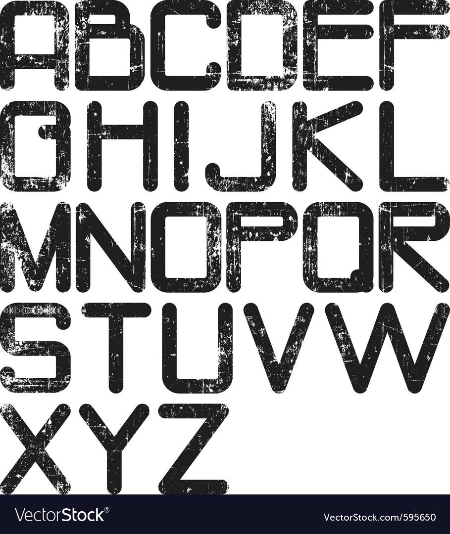 Alphabet grunge vector