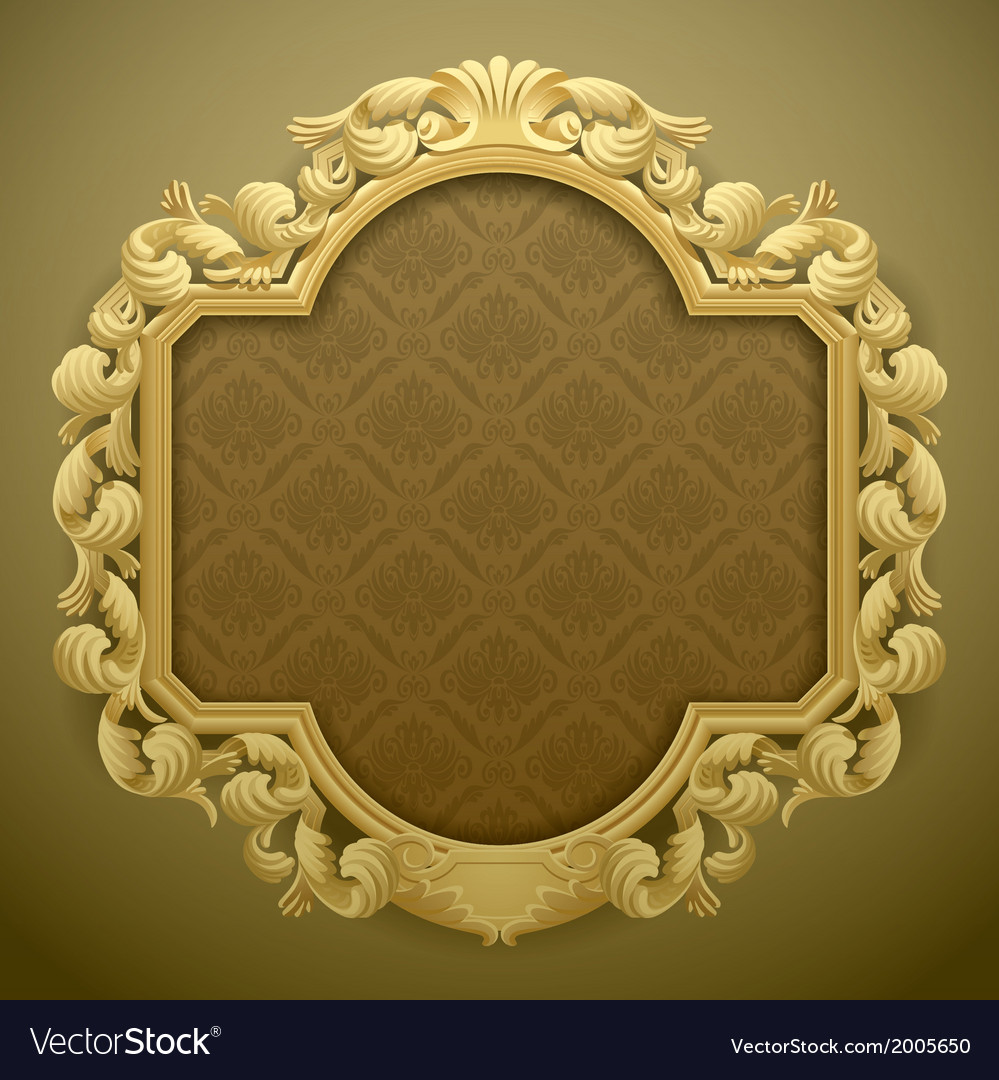 Baroque frame vector | Price: 3 Credit (USD $3)