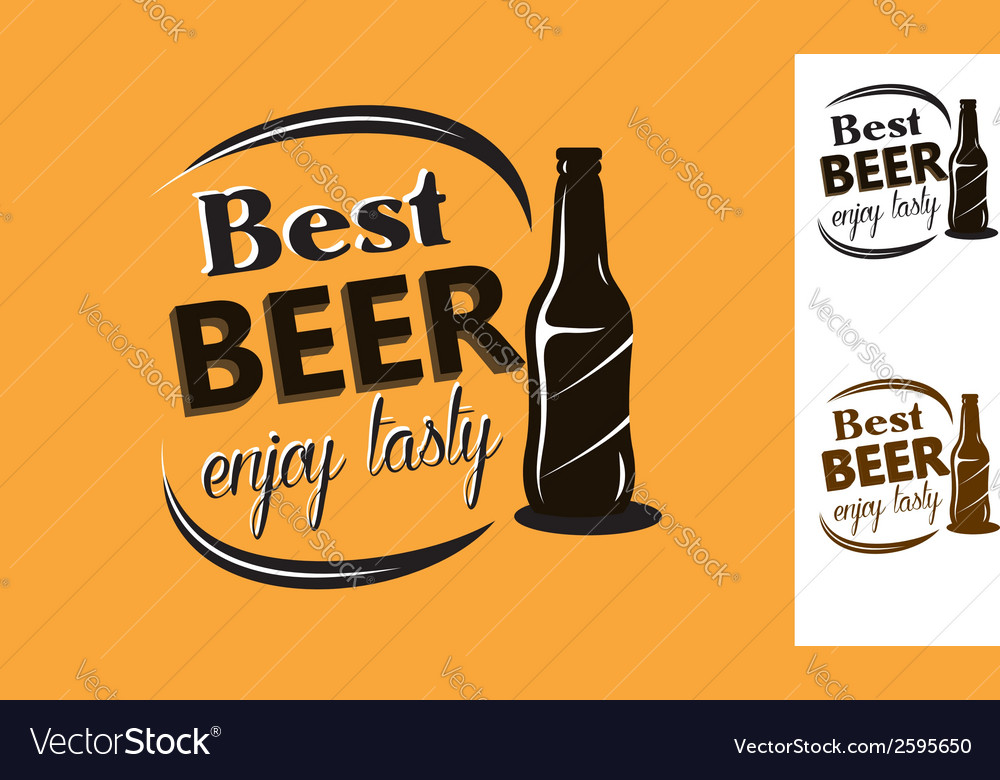 Best beer - enjoy tasty - poster vector | Price: 1 Credit (USD $1)