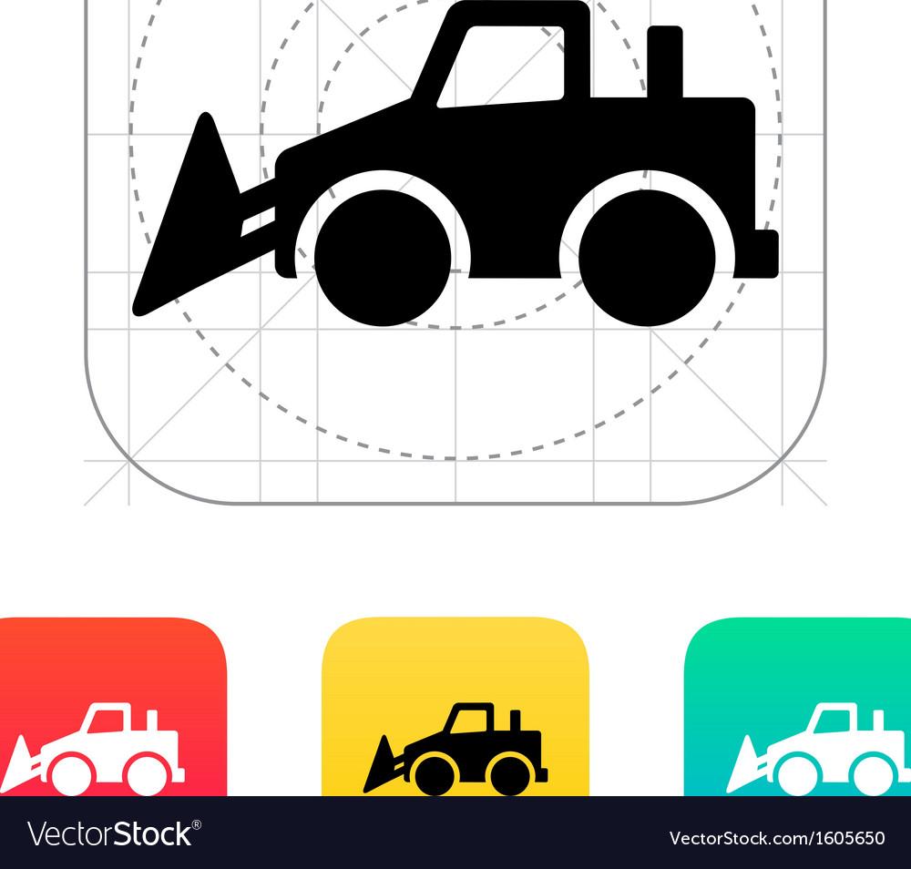 Bulldozer icon vector | Price: 1 Credit (USD $1)