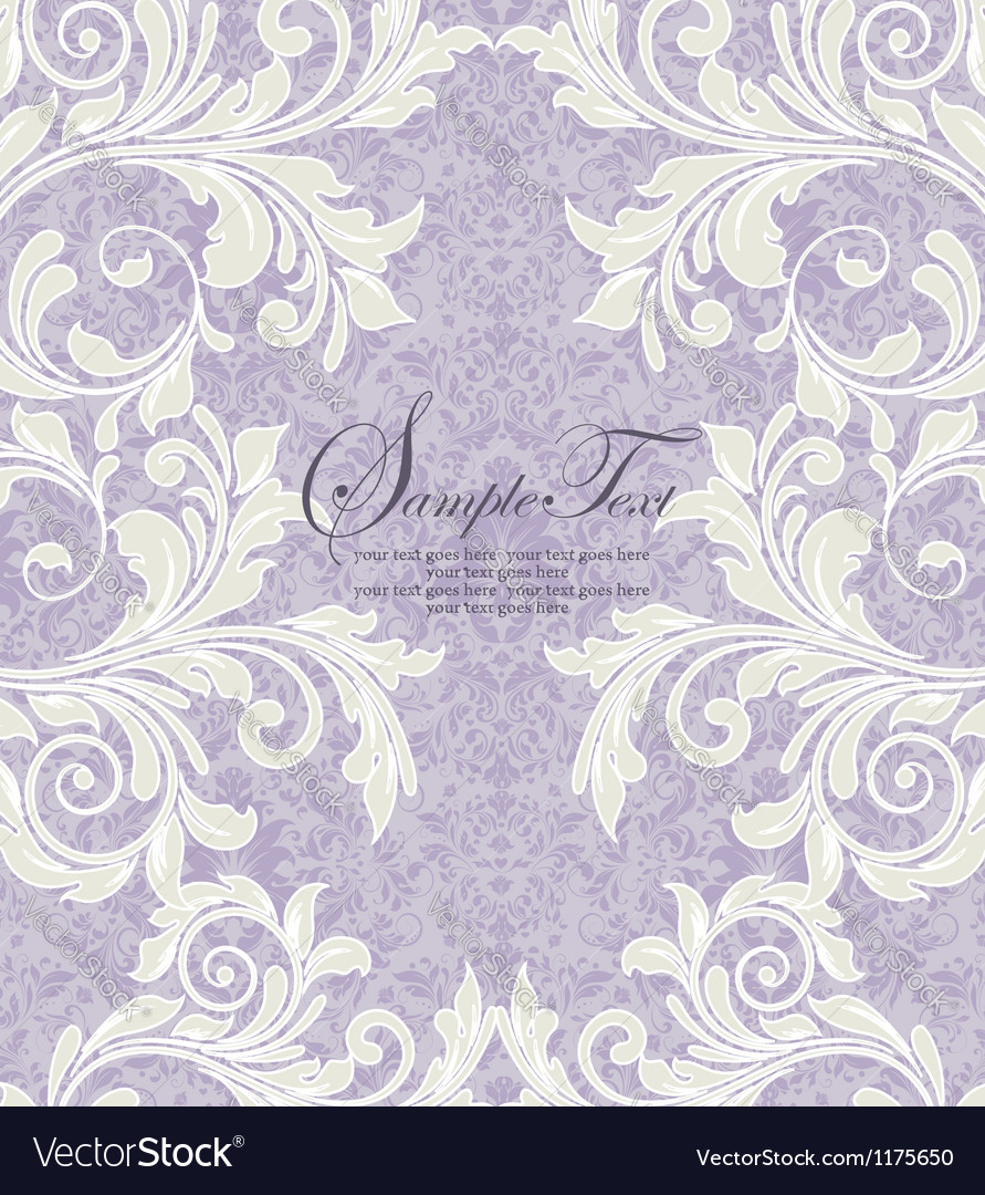 Damask wedding invitation vector | Price: 1 Credit (USD $1)