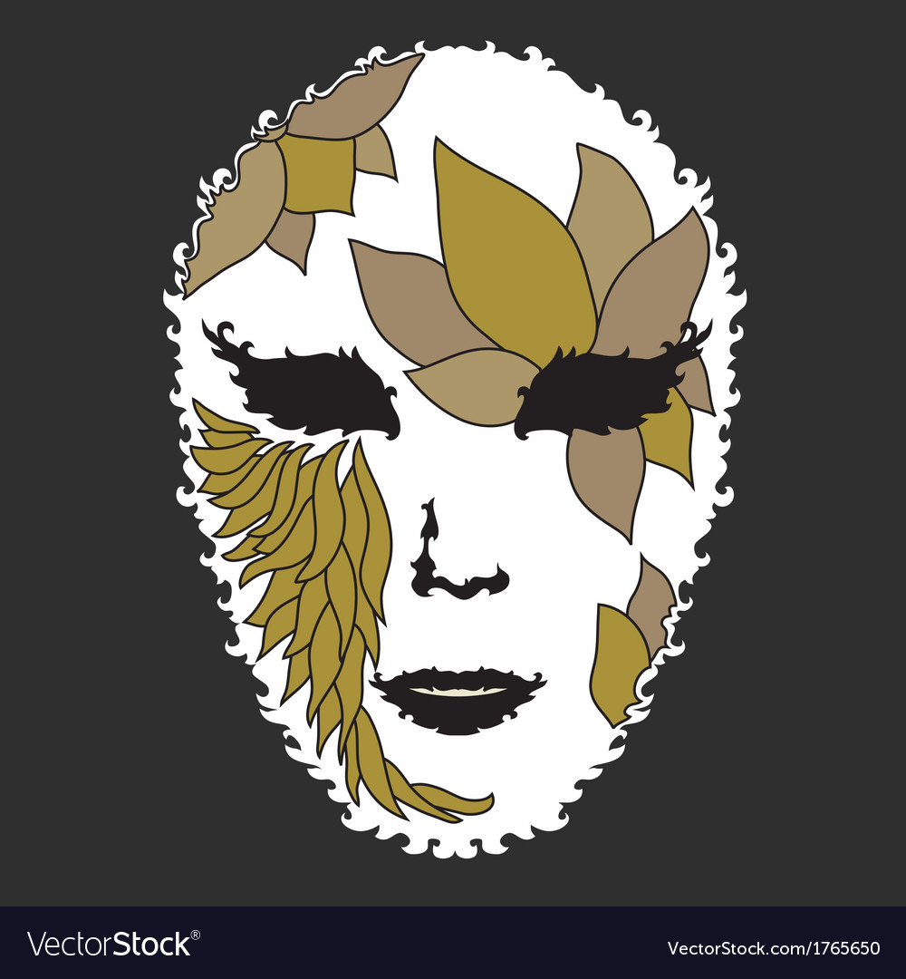 Decorative mask vector | Price: 1 Credit (USD $1)