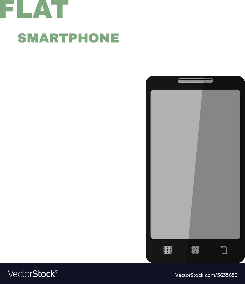 Flat smartphone isolated on white vector | Price: 1 Credit (USD $1)