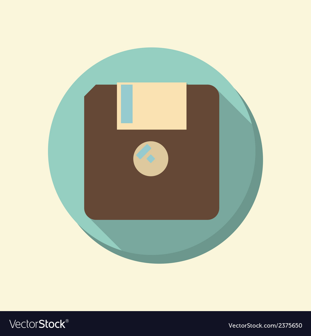 Flat web icon floppy diskette vector | Price: 1 Credit (USD $1)