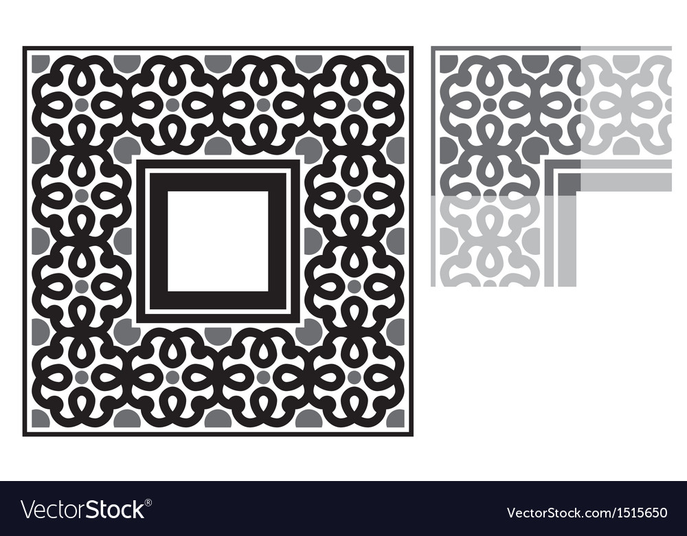 Floral frame ornament vector   Price: 1 Credit (USD $1)