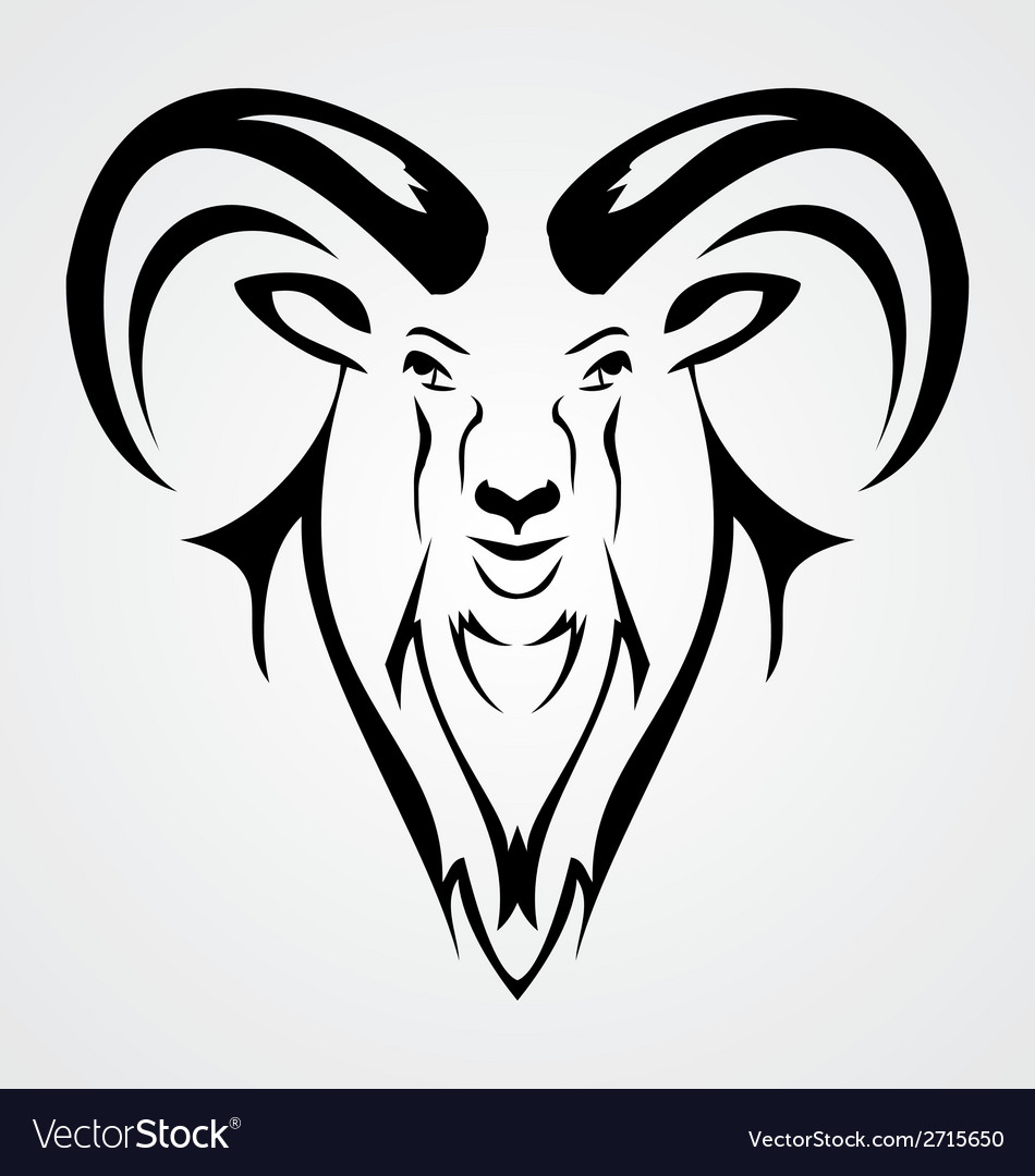 Goat head vector | Price: 1 Credit (USD $1)