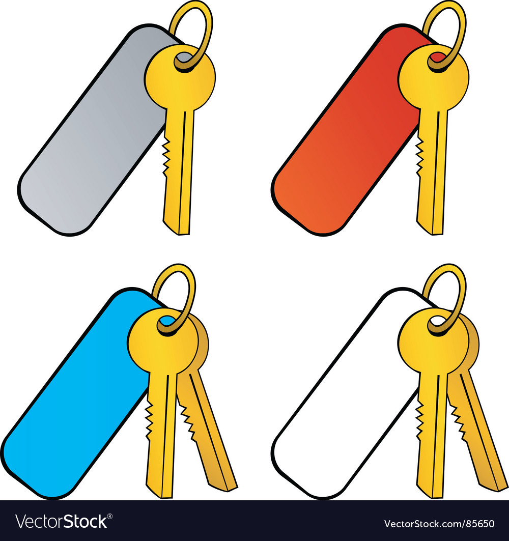 Key with charm vector | Price: 1 Credit (USD $1)