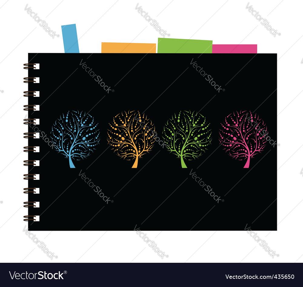 Notebook cover design art tree vector   Price: 1 Credit (USD $1)