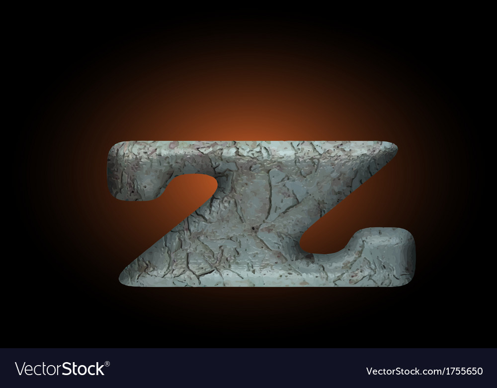 Old stone letter vector | Price: 1 Credit (USD $1)