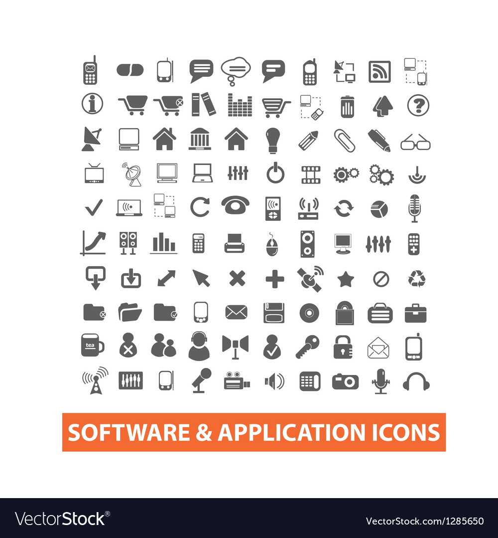 Software  application icons set vector | Price: 1 Credit (USD $1)