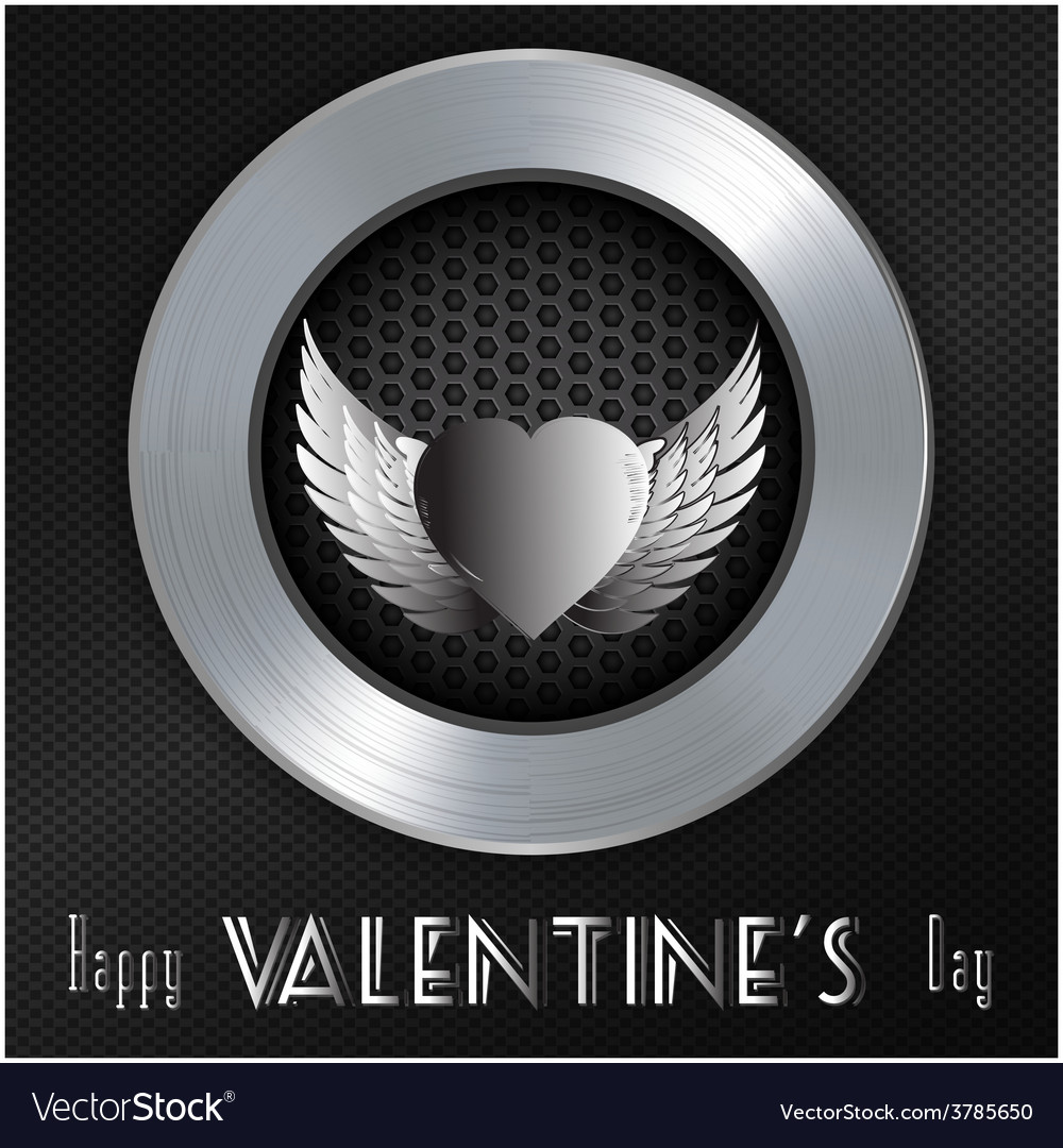 Valentine brushed metallic background with message vector | Price: 1 Credit (USD $1)