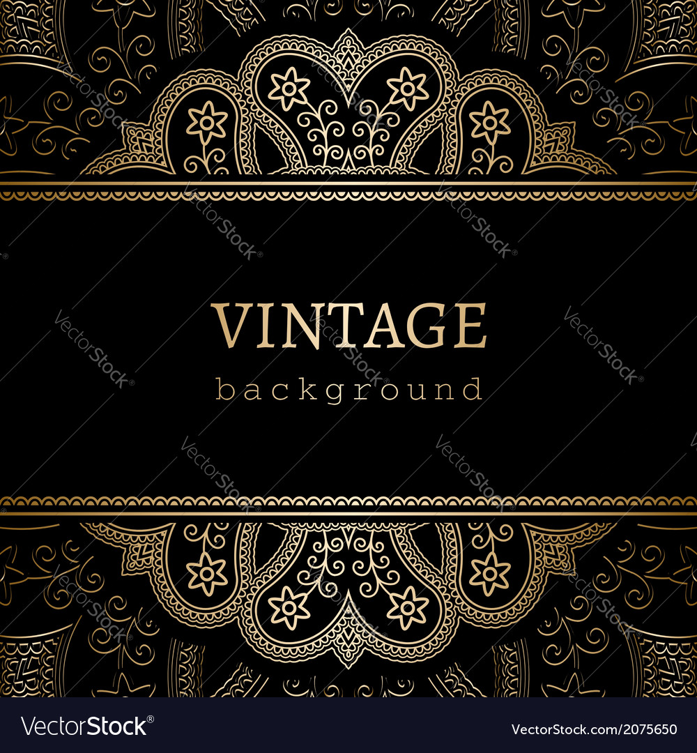 Vintage gold ornamental backround vector | Price: 1 Credit (USD $1)