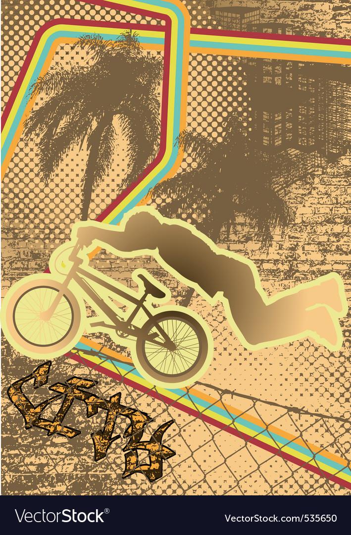 Vintage urban grunge bmx vector | Price: 1 Credit (USD $1)