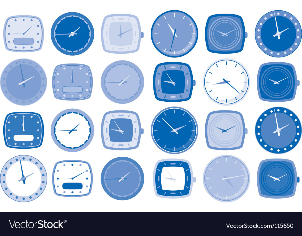 Watch face icons vector | Price: 1 Credit (USD $1)