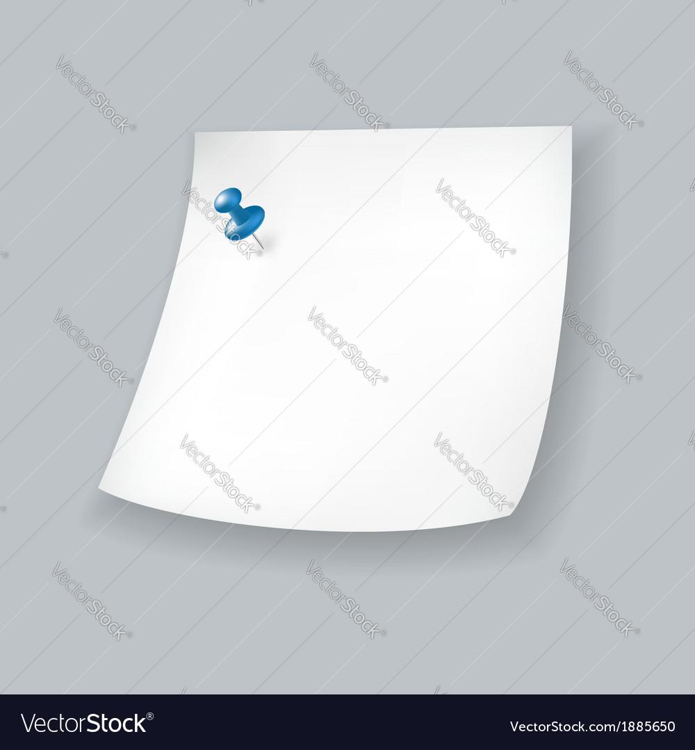 White paper note vector | Price: 1 Credit (USD $1)