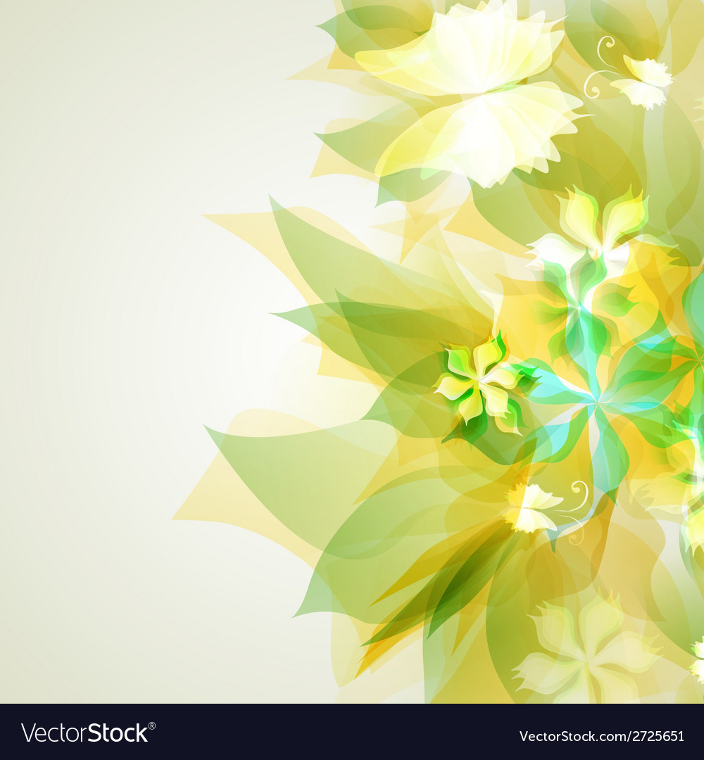 Abstract artistic background with yellow floral vector | Price: 1 Credit (USD $1)
