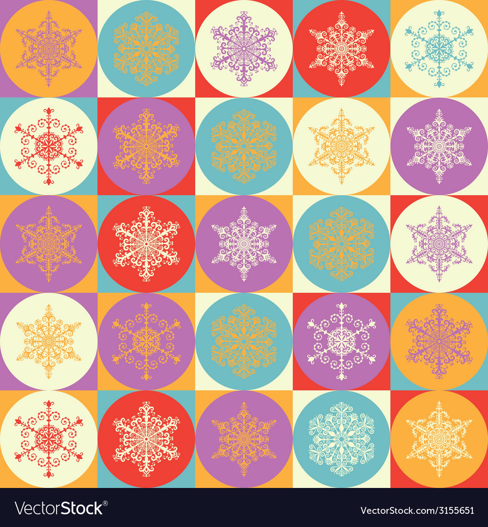 Bright background with snowflakes vector | Price: 1 Credit (USD $1)