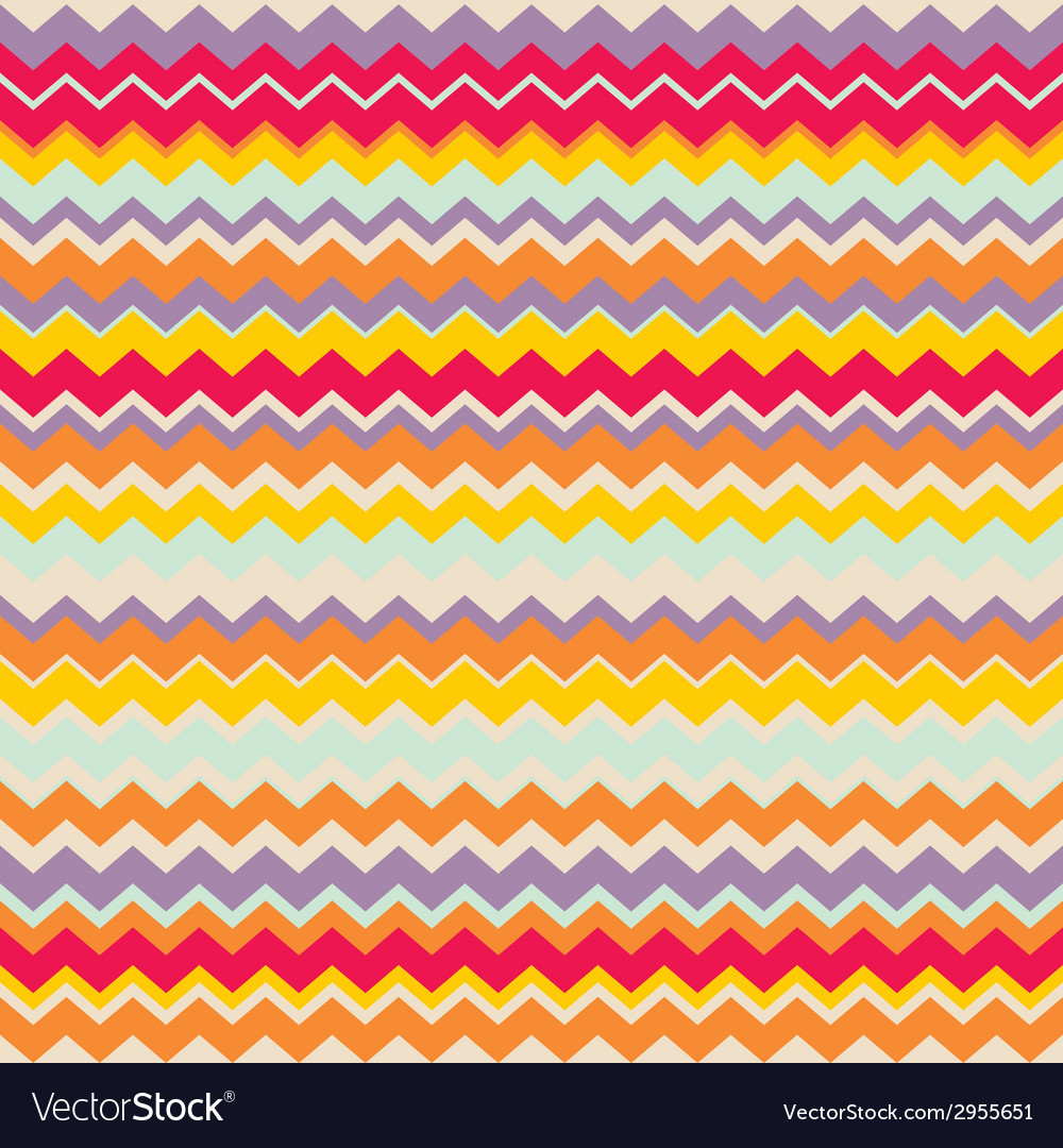 Chevron seamless colorful pattern tile background vector | Price: 1 Credit (USD $1)