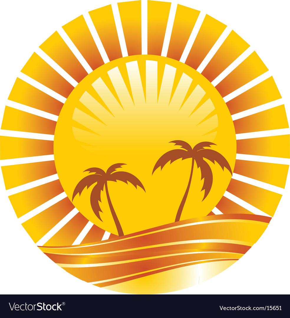 Gold sun vector | Price: 1 Credit (USD $1)