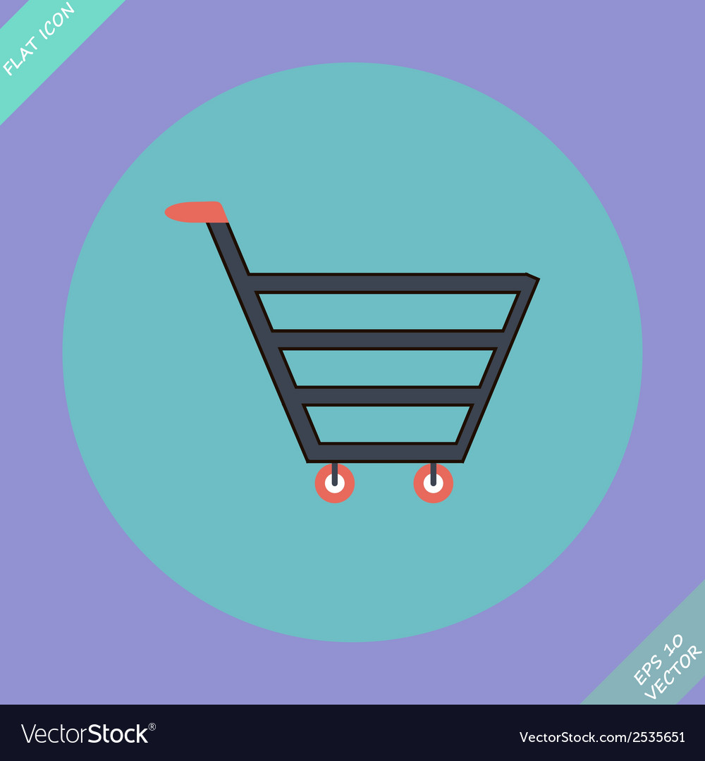 Shopping cart sign - vector | Price: 1 Credit (USD $1)
